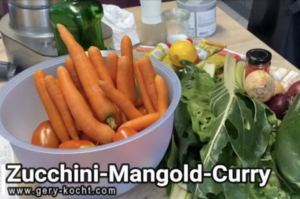 Zucchini Mangold Curry vegetarisch